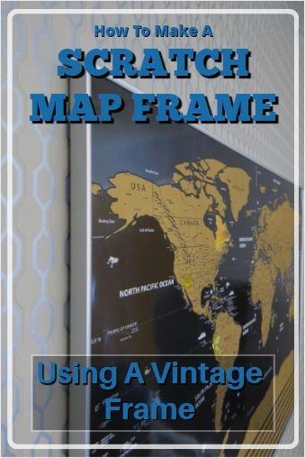 scratch map frame