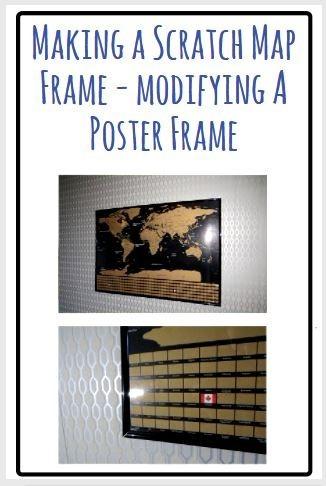 frame a scratch map