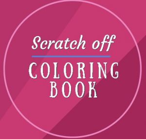 scratch off coloring book