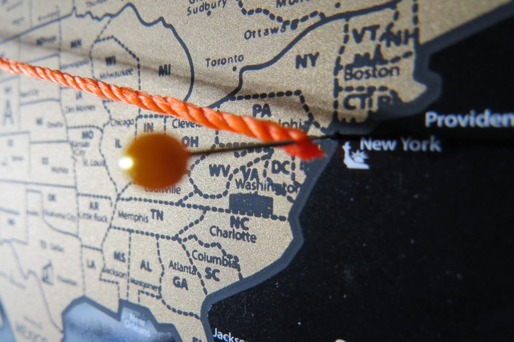 scratch map string and pin