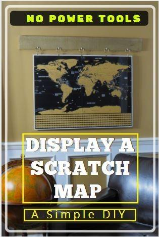 display a scratch map simple diy