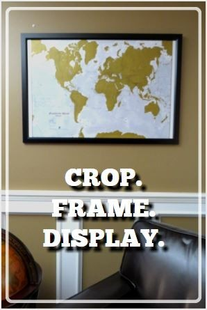 framed scratch map