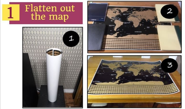 how to flatten out a scratch map