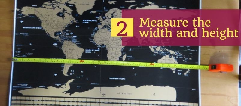 measure your scratch map