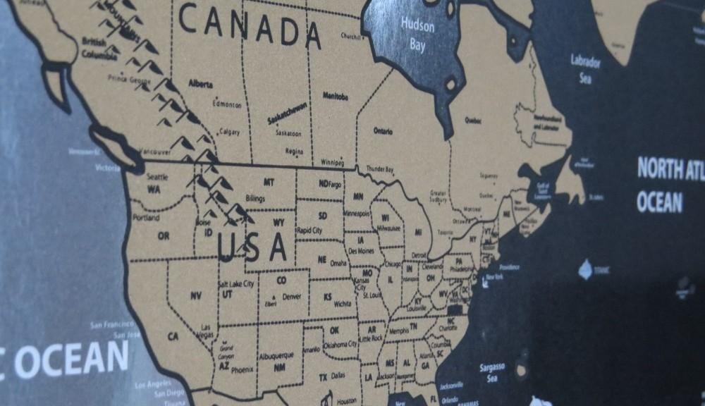 Scratch map close up